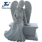 Marble memorial angel benches monument for cemetery