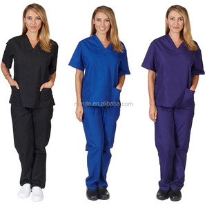 Medical Uniforms Scrubs Set Women's Scrub Set, Uniform Medical Scrubs Assorted Colors, XXS-5XL Medical Scrubs