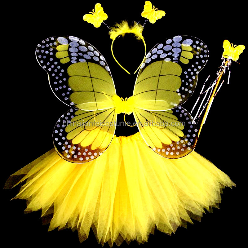 Hot Sale Baby Girl Fairy Dress With Butterfly Wings, Low Price Fairy Wings for Girls