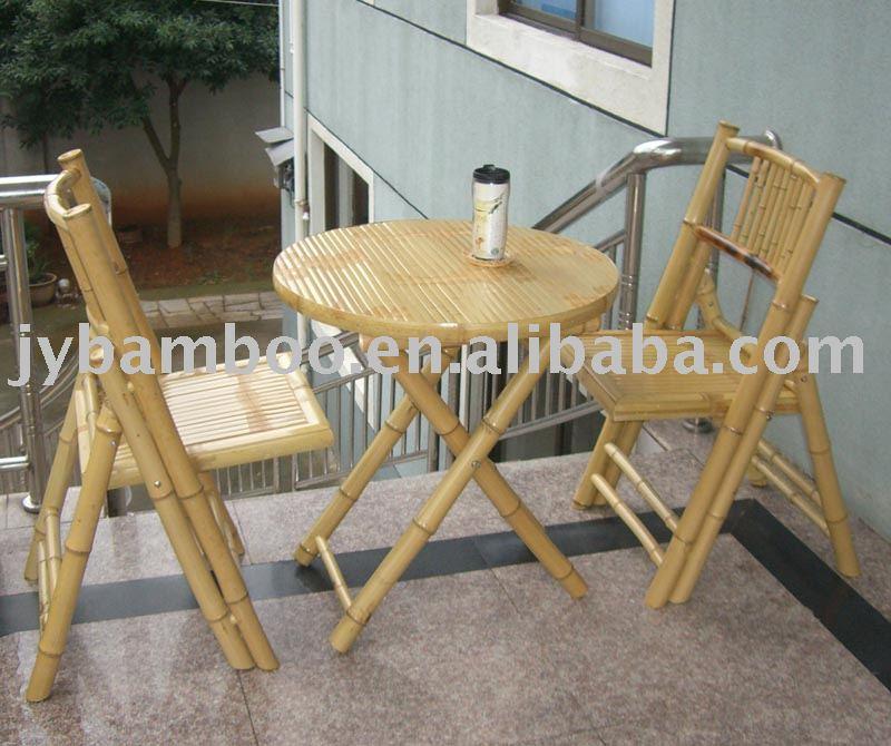 Jard n muebles de bamb conjuntos de jard n - Muebles en bambu ...