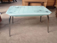 Nice Design Metal and Glass Dining Table