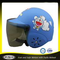 Japanese cartoon kids scooter helmet with visor