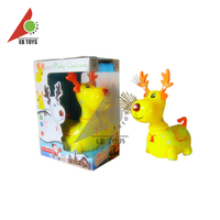 Funny yellow plastic light music electric cartoon christmas deer