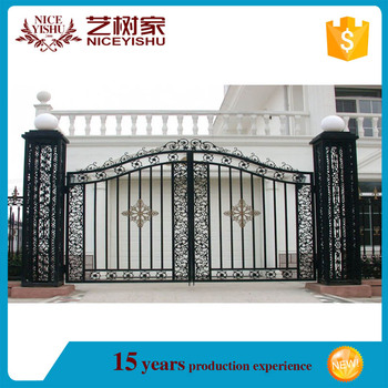 Curved Garden Aluminum Main Gate Colours Good Quality