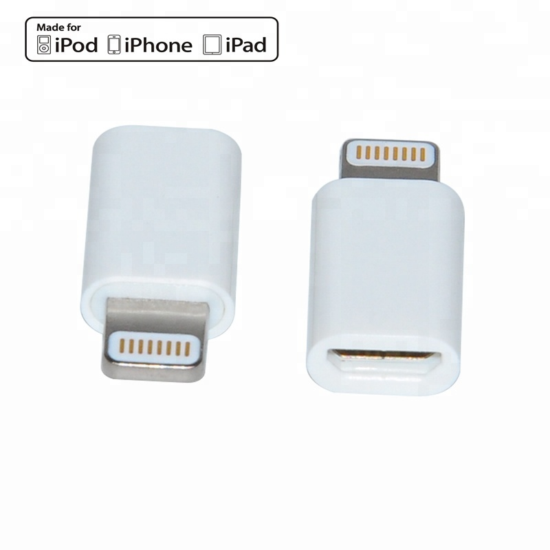 Customized MFI 8 pin ABS shell Light ning to micro USB <strong>Adapter</strong> for iphone C48 lightn ing <strong>adapter</strong> converter
