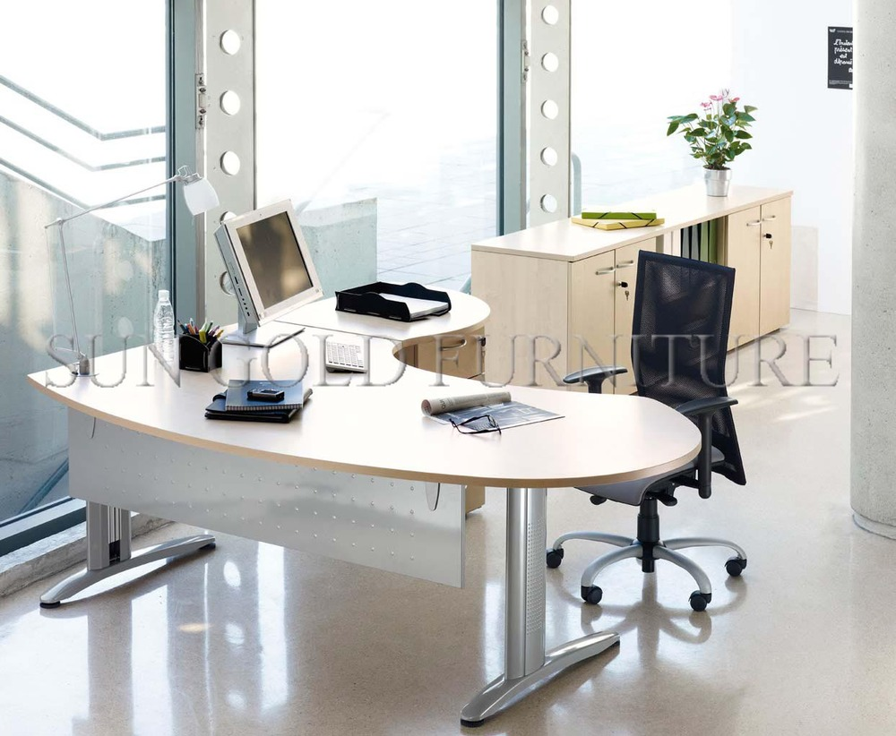 Modern Small Office Table Set Curved Office Desk For Managersz