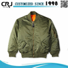 Custom 100% Polyester Bomber Jacket Men in Satin