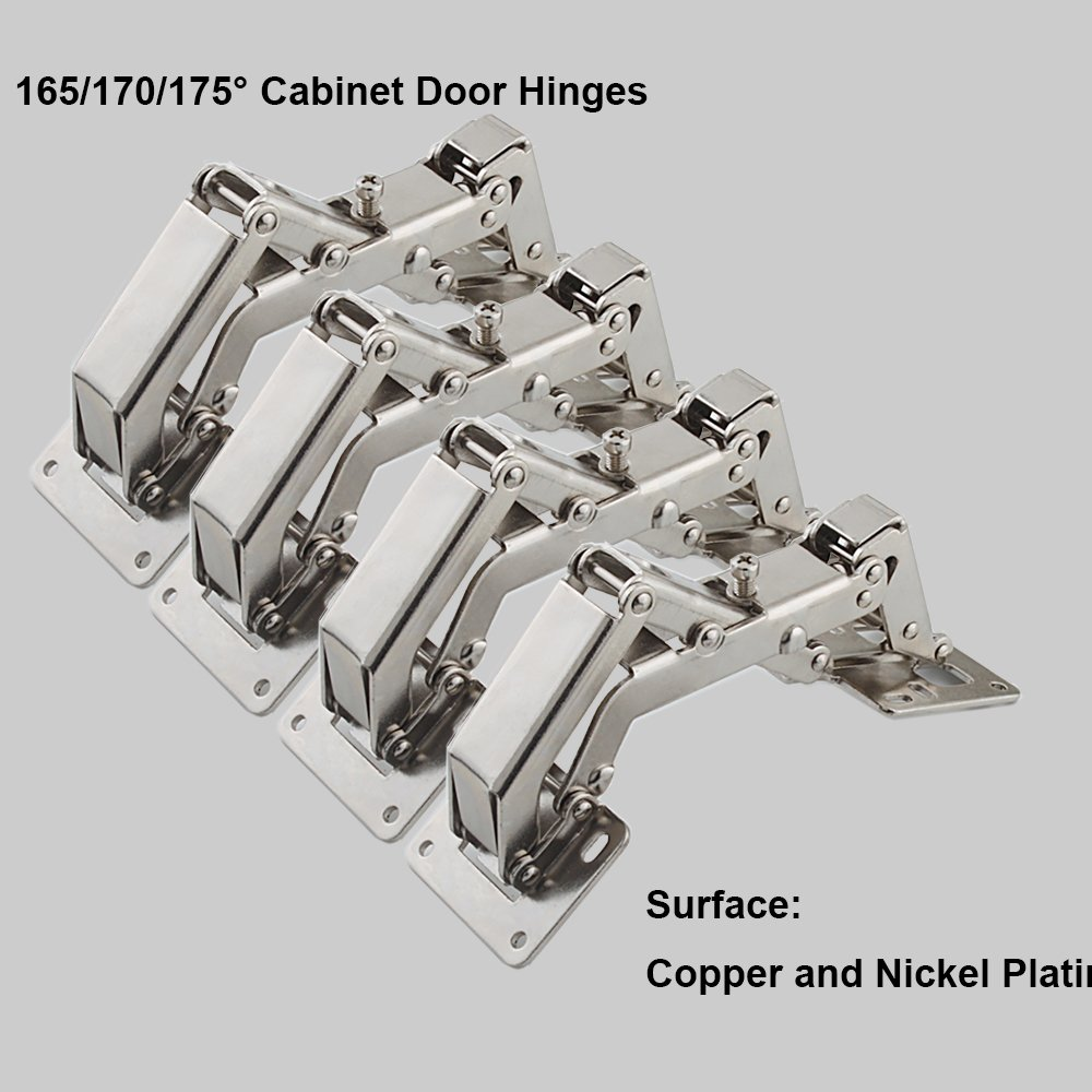Qrity 4 Pcs Kitchen Cabinet Door Hinges Cupboard 170 Degree 16 Fixing S Large Angle In Price On M Alibaba