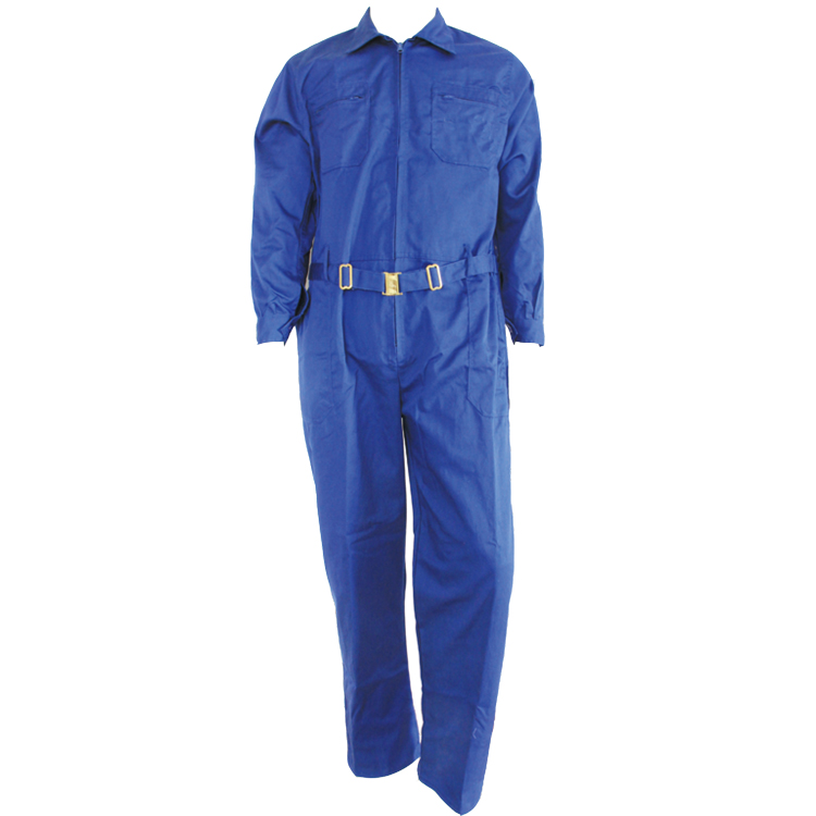 Royal blue 100% cotton or poly-cotton unisex work jacket pants