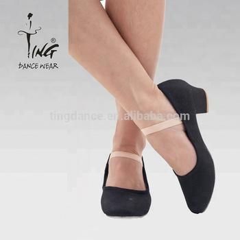 e30ae3f671 Salto Baixo De Lona Preta Sapatos De Dança De Caráter - Buy Caráter ...