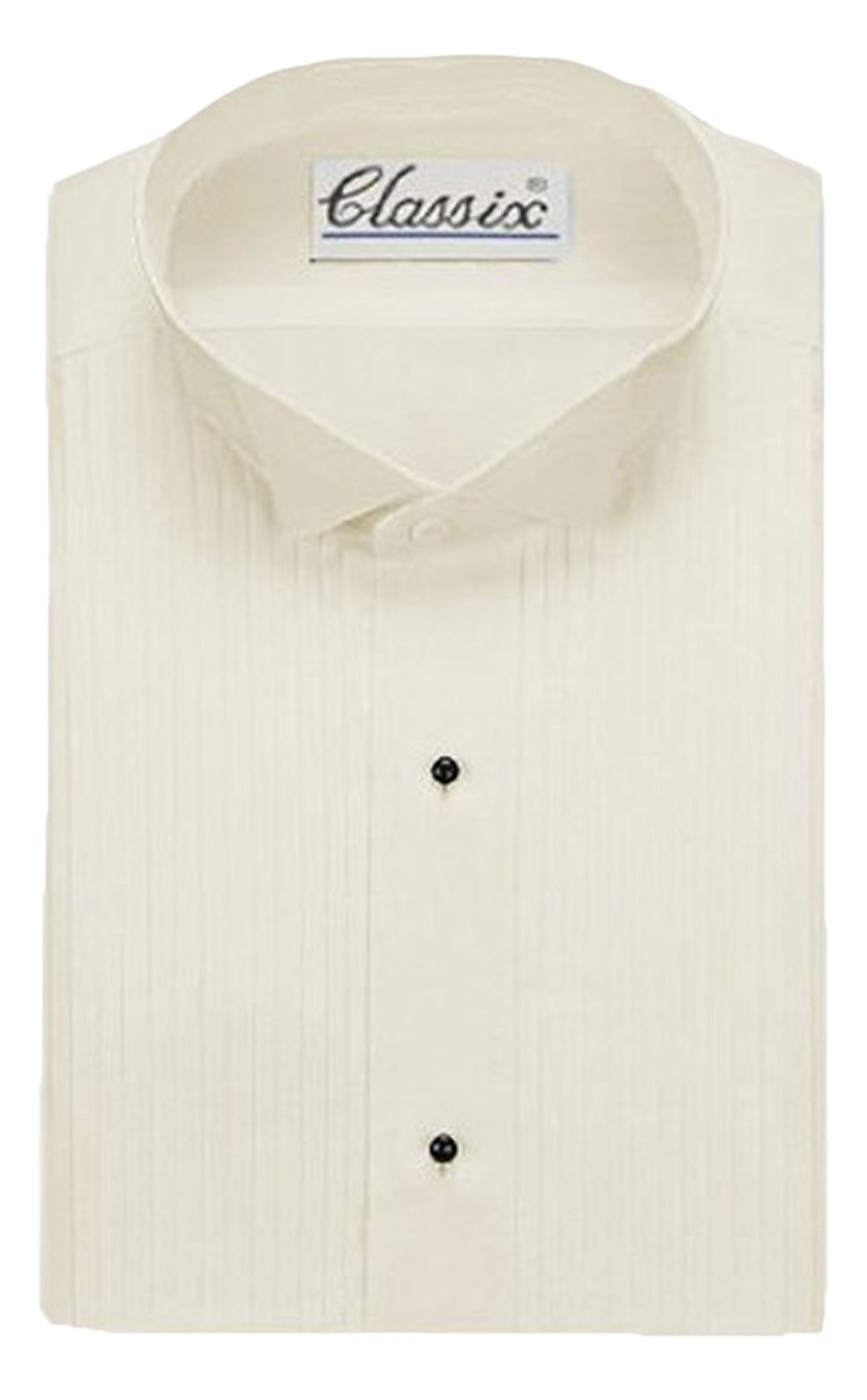 Neil Allyn Boys Tuxedo Shirt Poly//Cotton Wing Collar 1//4 Inch Pleat