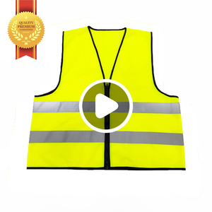BV01B Hi Vis Wholesale High Visibility Airport Police Construction Security Reflective Safety Vest With Pockets Clothing