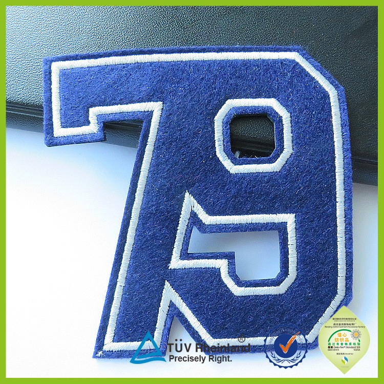 new chenille alphabet varsity letterman jacket embroidered letter patches for garments