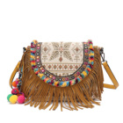 Banjara bags Vintage Boho Gypsy leather handbags with rosette tassels Vintage Hippie Ethnic bags genuine leather bags
