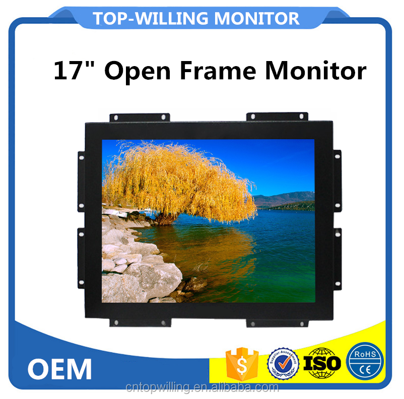 Hot Sales 17 inch Industrial SAW Touch Screen PC Monitor Open Frame Free Drivers