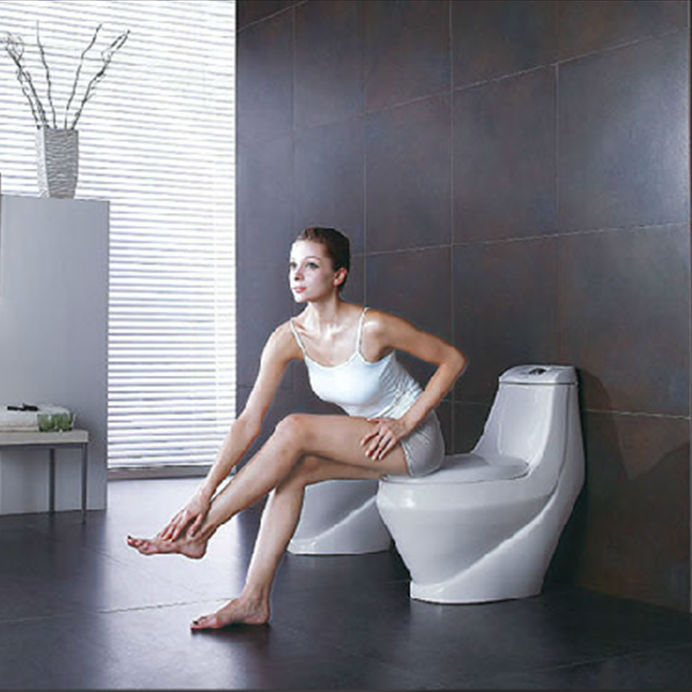 ceramic washdown one piece toilet sanitary ware