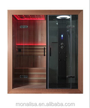 luxury bathroom design portable led steam shower sauna combos room cedarwhitewood - Luxury Steam Showers