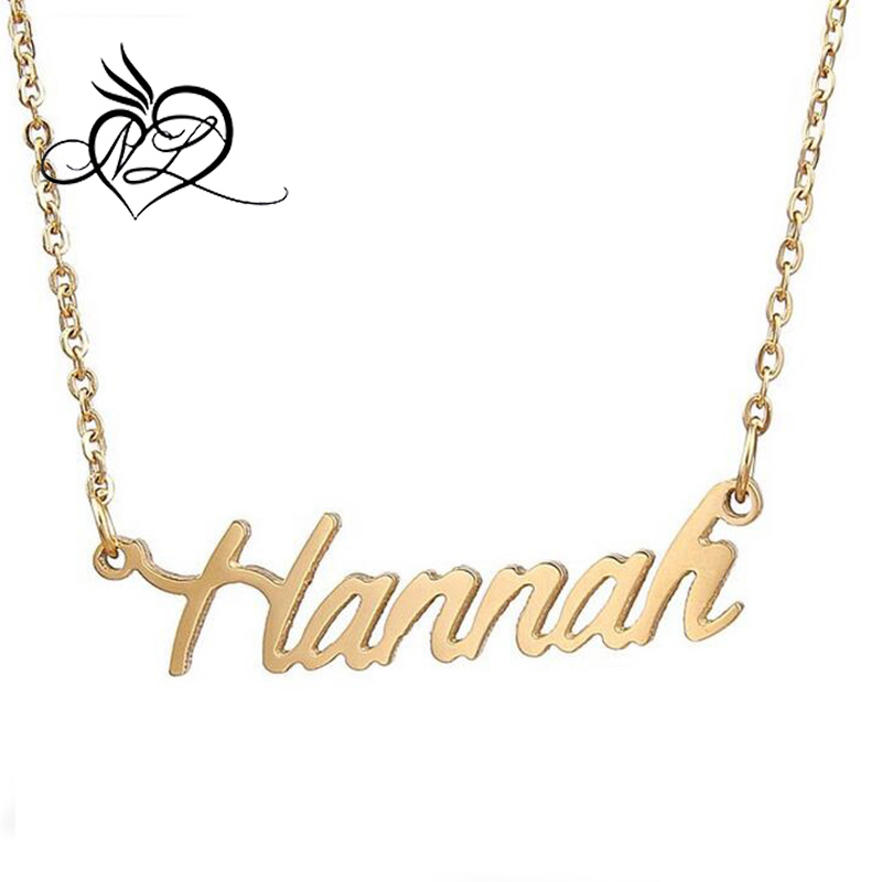 Dainty Handcrafted Customized Cursive Name Necklace Hannah