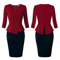 plus size uniform dresses two color tone women fashion design oem private label custom plus size formal dresses