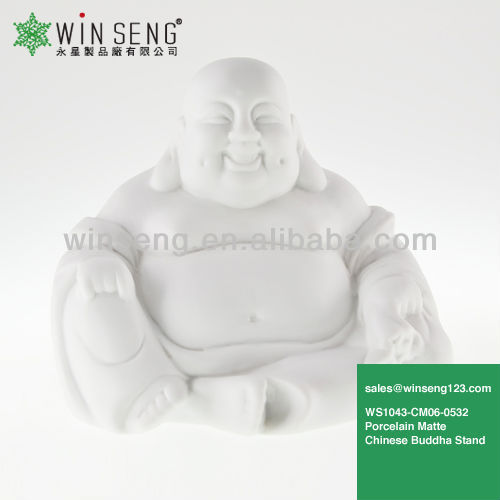 Porcelain Matte Chinese Buddha Seated Statue WS1043-CM06-0532