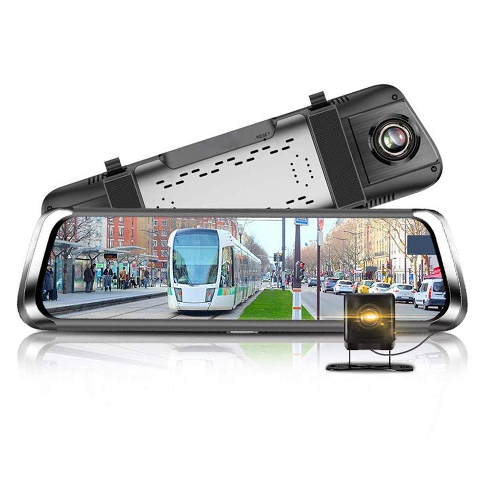 10 Inch 3G Quad Core 1080p GPS  Car Rearview Mirror DVR Dash Cam for Android 5.1