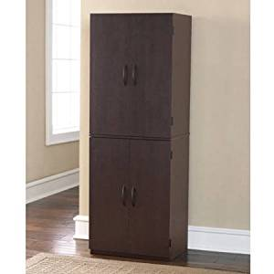 """Storage Cabinet, Multiple Finishes Storage cabinet with doors Spacious, ample storage for kitchen accessories and pantry items behind four doors Product Dimensions: 21.31""""L x 15.44""""W x 59.88""""H"""