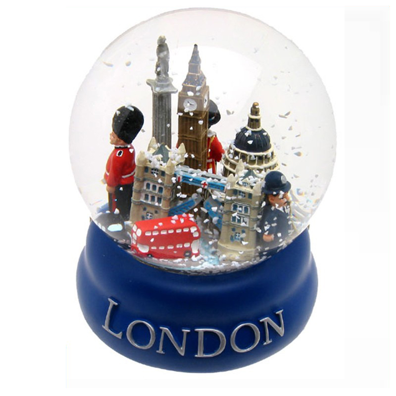 Custom London souvenir salju dengan landmark
