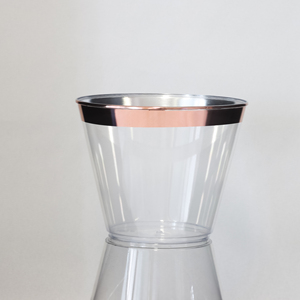 9oz plastic rose gold rimmed cup disposable cup party cup