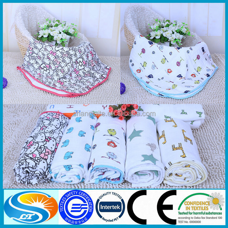 Manufacture wholesale muslin fabric baby swaddle wraps for Wholesale baby fabric