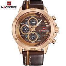 NAVIFORCE мужские часы лучший бренд класса люкс 3 бар водонепроницаемый дата кварцевые часы мужские кожаные спортивные наручные часы мужские во...(China)