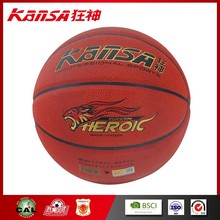 Kansa-8812 Top Good Wholesale&Retail Pu Leather Brown Color Economical All Star Basketball