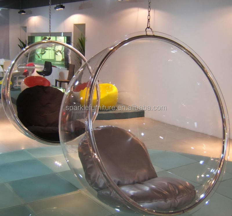 Triumph Acrylic Hanging Bubble Chair, Clear Ball Chair, Retro Design Chair