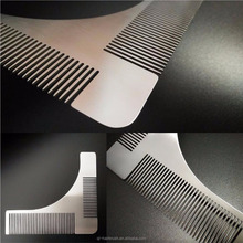 Stainless Steel Beard Styling Shaping Template Comb Trim Facial HairCare
