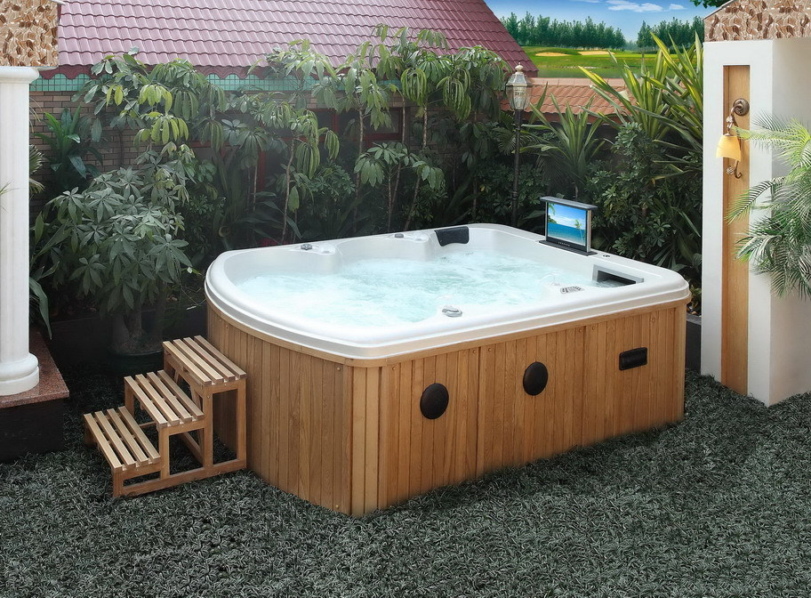 Hs-390y Acrylic Spa Hot Tub/ 6 Peron Hot Tub Spa/ Jet ...