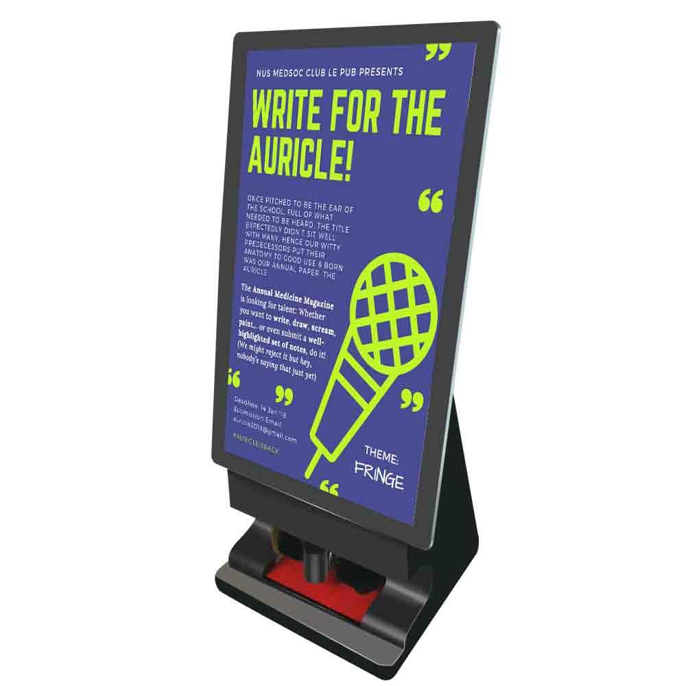 47 inch Network Advertising Shoe Polishing Machine