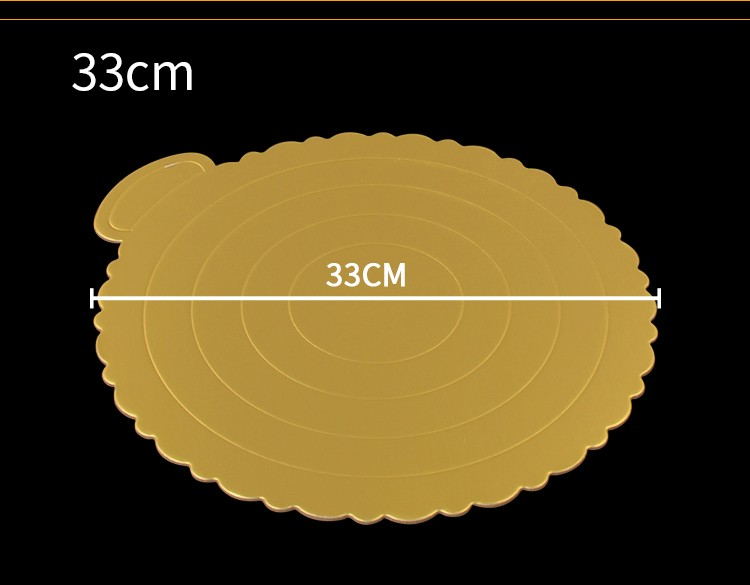 Round Scalloped Lace Cake Cardboard Mousse Tray Mat with Handle