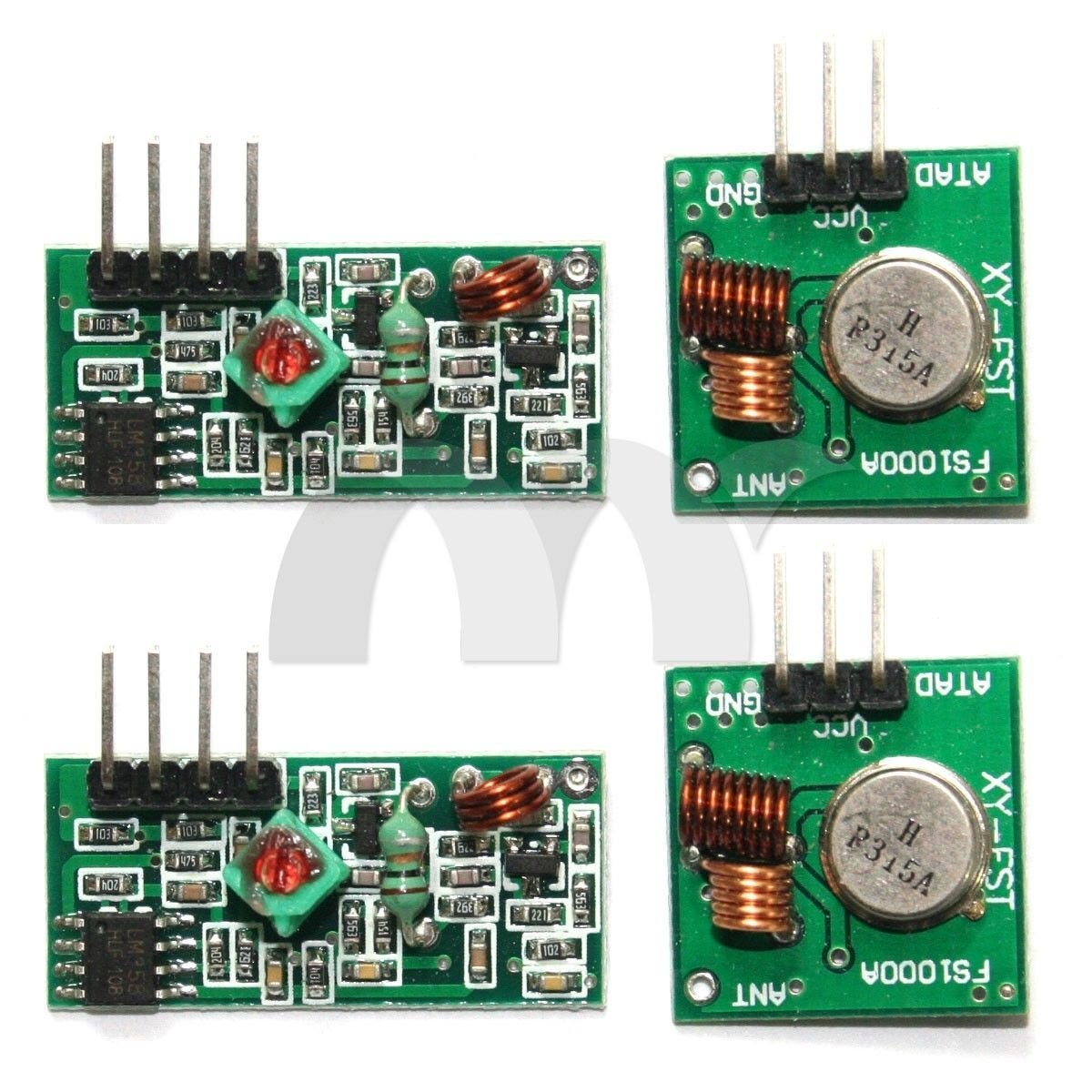 Cheap 315mhz Transmitter Circuit Find Rf Remote Control Board Garage Door 315 433mhz Get Quotations Eztronics Corp 2 Sets Module And Receiver Link Kit For Arduino Arm