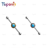 Small MOQ Quality Eco-friendly 316 L Surgical Stainless Steel Stone Barbell Industrial Barbell Ear Piercing
