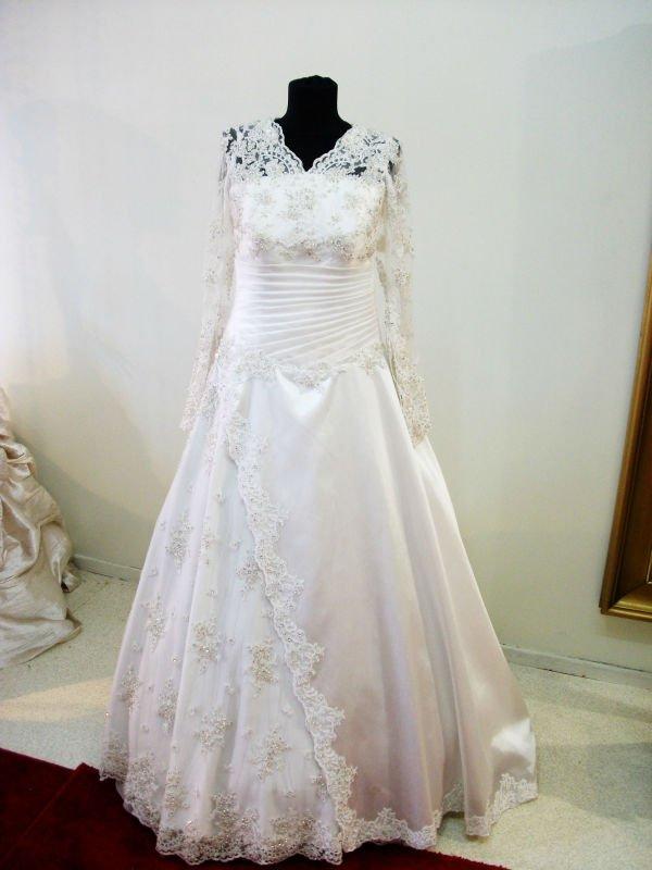 franais dentelle muslima mariage robe - Mouslima Mariage