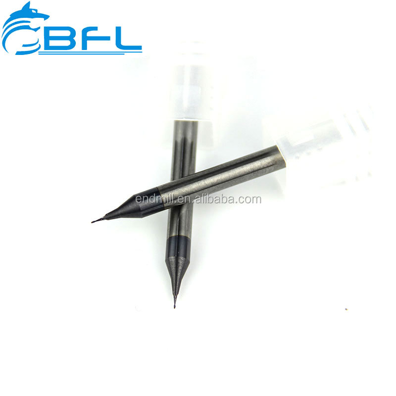 BFL- HRC-65 Micro Diameter 2 Flutes Carbide Micro End Mill / Micro Cutting Tools