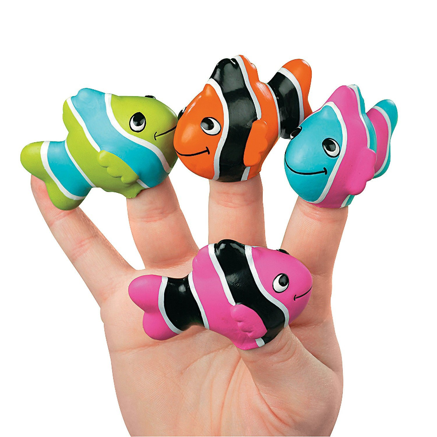 Clown Fish Finger Puppets - Teaching Supplies & Teaching Supplies,pack of 12,various color