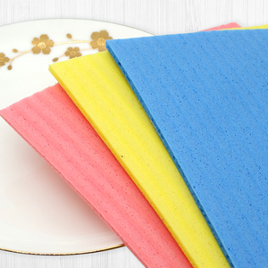 New Factory Produce And Wholesale Magic Wet Cellulose Sponge Cleaning Cloth For Kitchen-4Mm Thickness 18X20cm 3Pcs/Bag