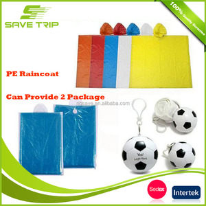 Ningbo factory supprier breathable plastic reusable rain poncho