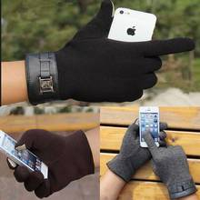 1 pair Fashion New Winter Warm Men's Gloves/Mitten ipad/iphone Touch Gloves Plus Velvet Drive Gloves Free Shipping