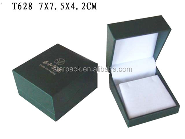 China Manufacture Leatherette Paper Covering Jewelry Earring Box Lining Soft Velvet T628