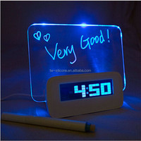 Unique Products To Gift Led Digital Desktop Clock Memo Clock