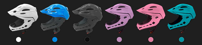Full face helmets with goggles for downhill 8