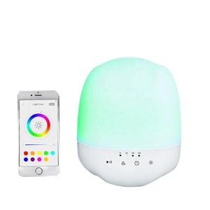 Smart, wirelessly controlled perfume diffuser with music player and atmosphere lamp
