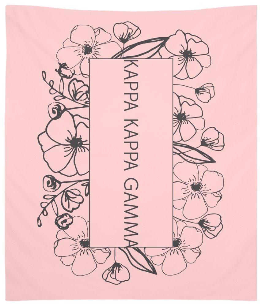 Kappa Kappa Gamma Flower Box Wall Tapestry for Bedroom or Dorm