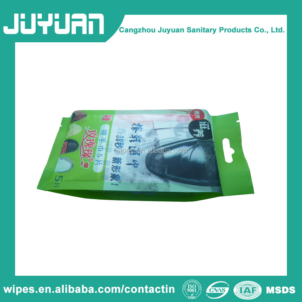 High Quality OEM Leather Shoe Polish Cleaning Wet Wipes Bag Protectant Tissue Factory Price